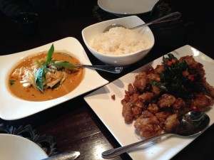 Noi Bend Oregon Curry and Cripsy Garlic Chicken
