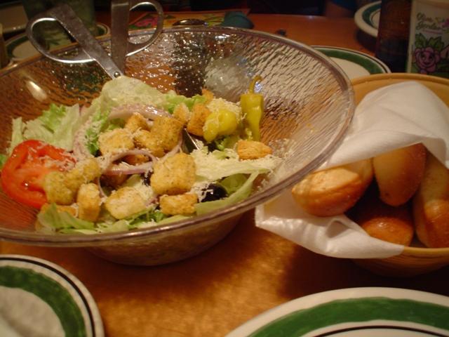 Olive Garden Salad Bread Sticks